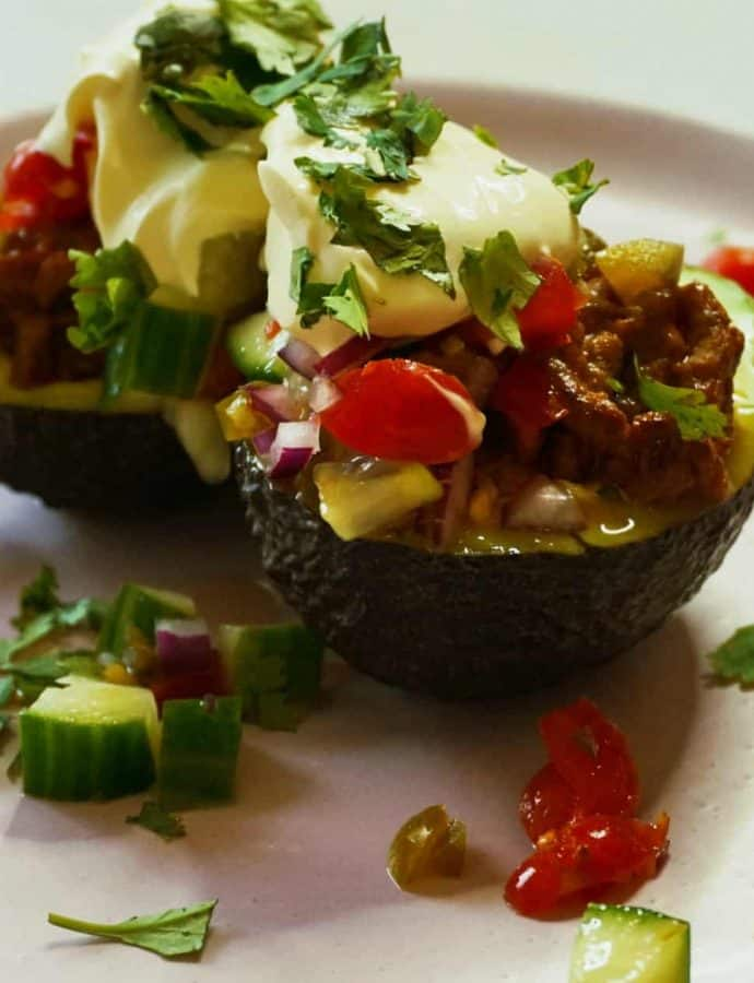 Simple Avocado Taco Boats
