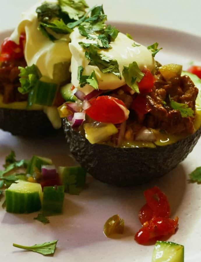 Simple Avocado Taco Boats