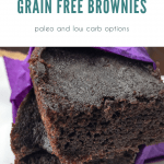 Chocolate Cherry Grain Free Brownie in purple napkin