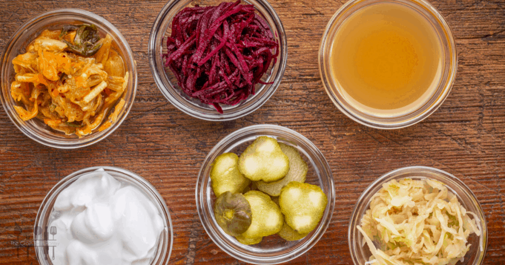 Selection of fermented foods - food and gut health