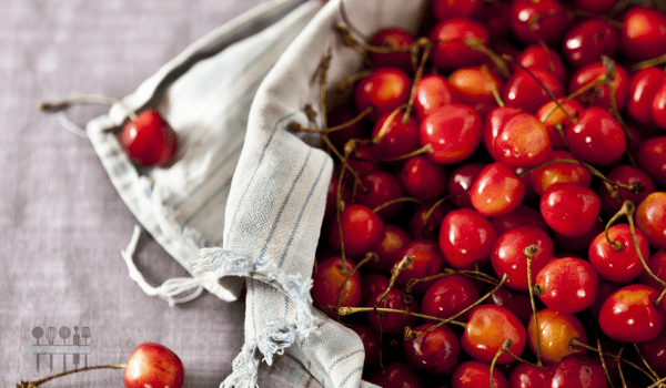 image of cherries for chocolate cherry grain free brownies