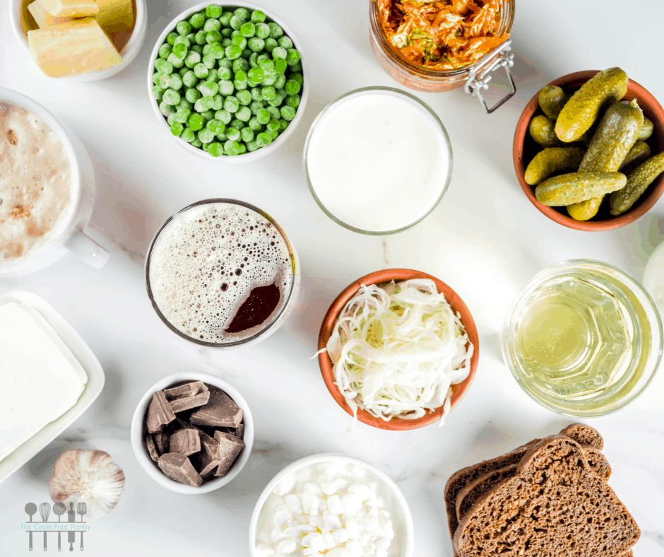 prebiotics and probiotics from foods