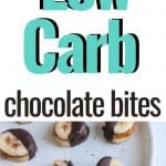 Banana nut chocolate bites low carb snack